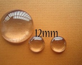500pcs 12mm Glass Cabochon For Pendants