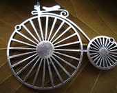 2pcs 75x60mm antique sliver big bicycle charm pendant S28M22316