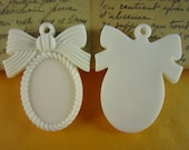 10pcs resin bow setting perfect for 18x25 cabochon