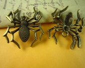 5pcs 32x36mm antique bronze spider charm pendant c2411