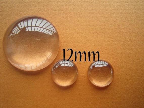 500pcs 12mm Glass Cabochon For Pendants
