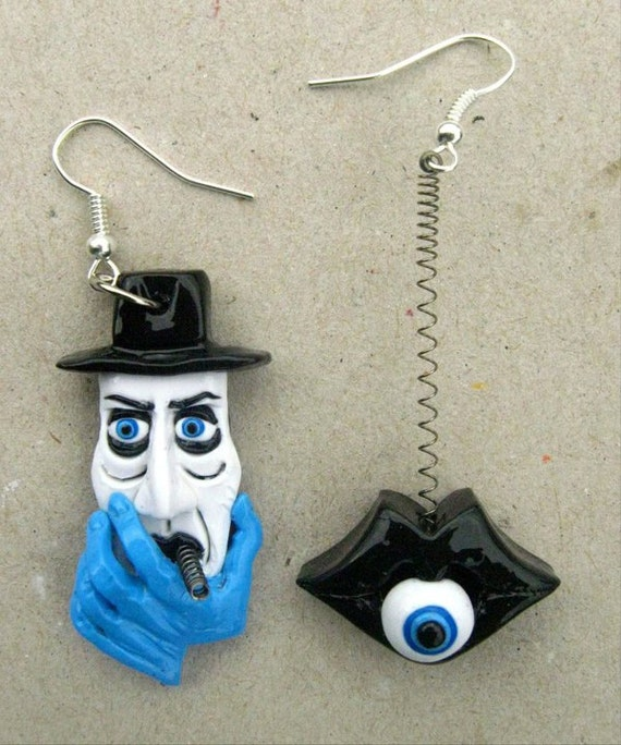 Naked Lunch 2 - Polymer Clay Earrings 50% off RESERVED