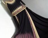 PRINCESS RASPANTI ITALY . Flapper & The Birds . Art To Wear Signed Print Dress .1970s Ultra Rare L large
