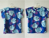 70's BOLD FLORAL Levi's Top