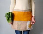Garden Apron. Craft apron. Children gardening apron. Linen garden apron. Half apron. Garden gift apron.