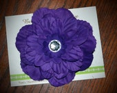 Purple Large Peony Hair Clip