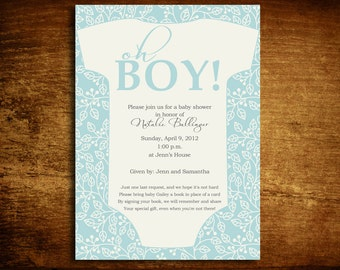 20 5x7 OH BOY Baby Shower Invitations