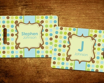 Doodle Dots Personalized Bag/Luggage Tag