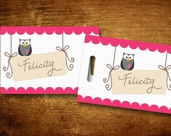 Owl Personalized Bag/Luggage Tag