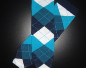 Baby Leg Warmers - Blue Argyle