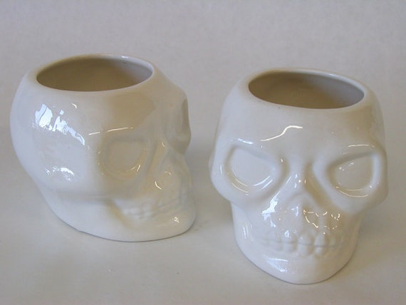 Small Skull Cups or Planters