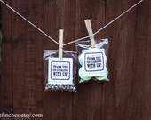 Biodegradable ECO Personalized Cello Bags // Wedding Favors
