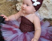 Sparkly Maroon, White, and Silver Tutu, Texas A&M Aggies, Made to Order, Perfect for Football Season - Newborn Photography Prop