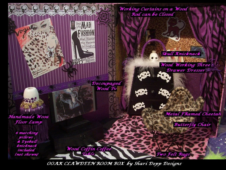 One Of A Kind Monster High Clawdeen Wolf Room Box Eek