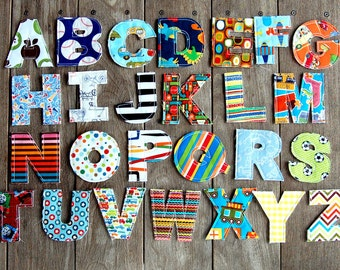 Raggy Alphabet Letters - Machine Embroidery Design - 3 Sizes - Toy or Applique - INSTANT DOWNLOAD