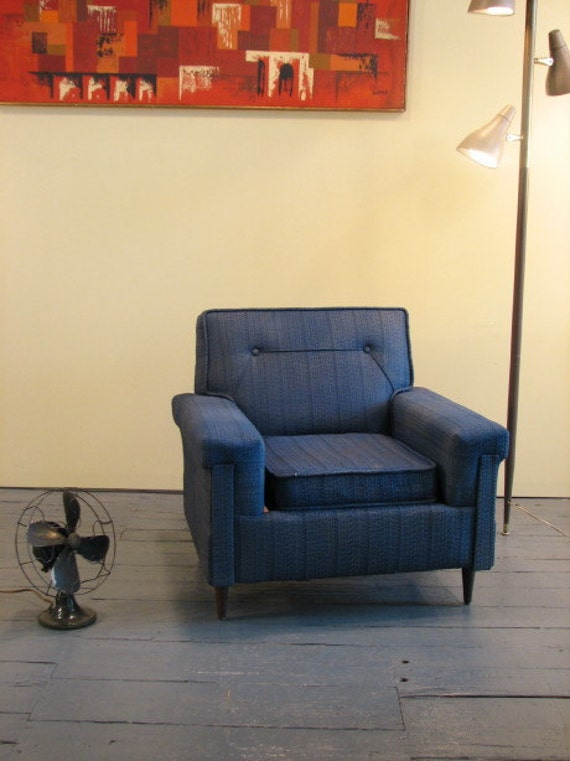 SALE SALE SALE Mid Century Modern, vintage upholstered chair 1950's, 60's Discounted shipping to some Cities