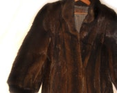 On SALE - Glamorous Full Length Mink Coat - Size 8