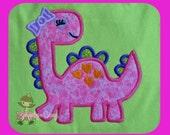 Girl Dino Applique design