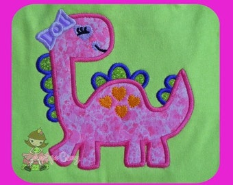 Girl Dino Applique design
