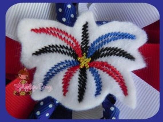 Firework feltie embroidery design