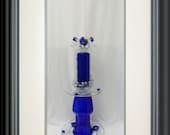 Glass Cobalt Blue, Candleabra, Garden Totem, Home Interior and Exterior Decor