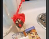 Crocheted Kitchen Helper, Clothes Pin, Recipe Holder