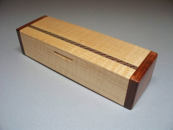 Curly Maple and Bubinga Inlay Box
