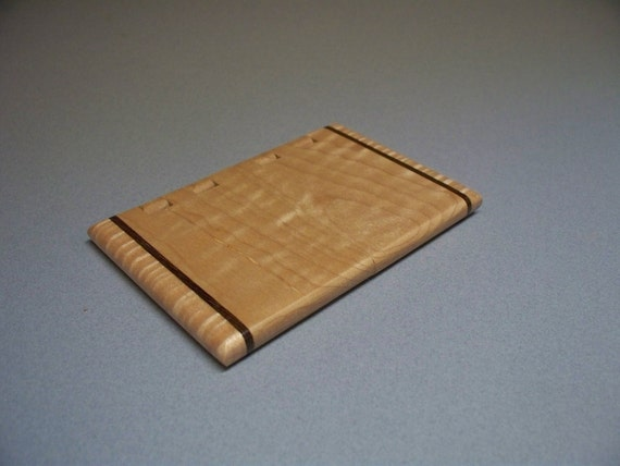 Quilted Maple Card Holder