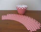 Gingham Cupcake Wrappers