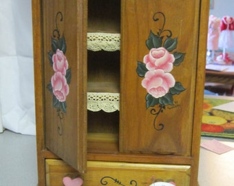 Wood Doll Hutch 11 hi x 8 wide x 3 deep