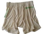 Men's Natural Bamboo Boxer Briefs: softer than cotton, moisture wicking & odor resistant.