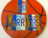 GO WARRIORS - custom recycled license plate art sign by LICENSE2SPELL
