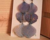 Purple Hydrangea Pressed Flower Petal Earrings