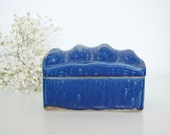 Vintage blue ceramic box
