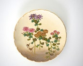 Vintage small plate Japanese pattern flowers