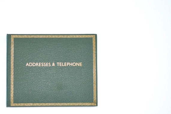 Vintage address book A-Z green unused