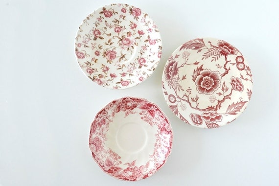 Instant collection of vintage plates saucer