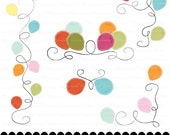 Party clip art balloon clipart party flourishes clip art : c0246 x301