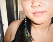 Peacock Beaded Earring