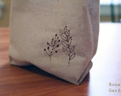 Simple reusable Sandwich bag-Ivory linen