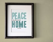 8x10 Peace/Home Motivational Quote Print-Custom Colors