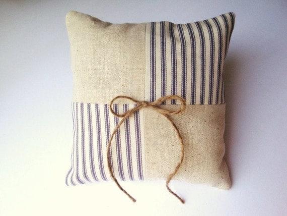 Seersucker Striped  Ring Bearer Pillow