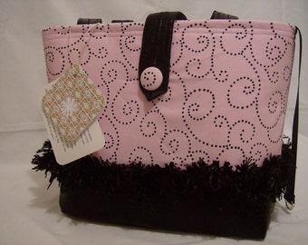 Pretty in Pink with Swirls Handbag