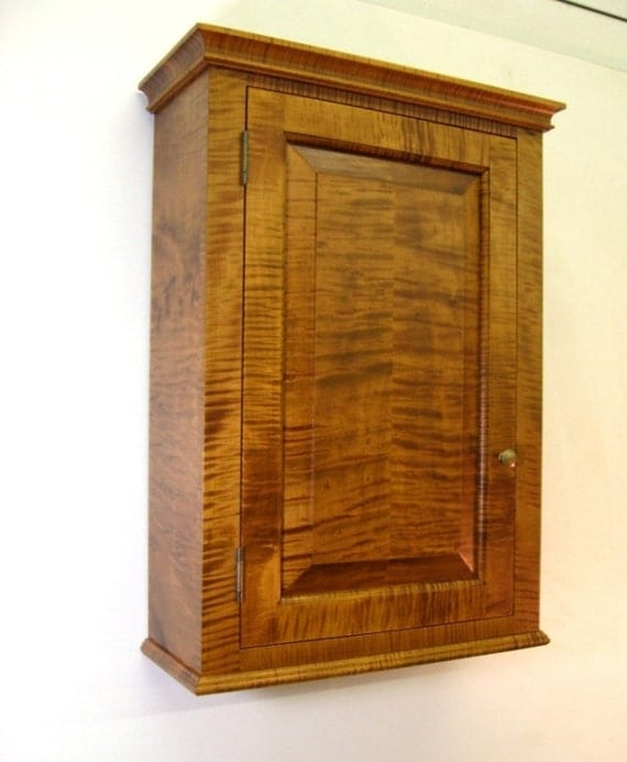 Tiger Maple Spice Cabinet  Wall Cupboard