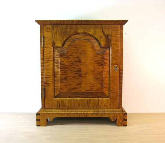 Curly Tiger Maple Spice Chest with 11 Drawers