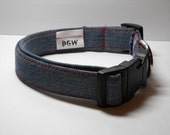 Recycled Blue Jeans Dog Collar