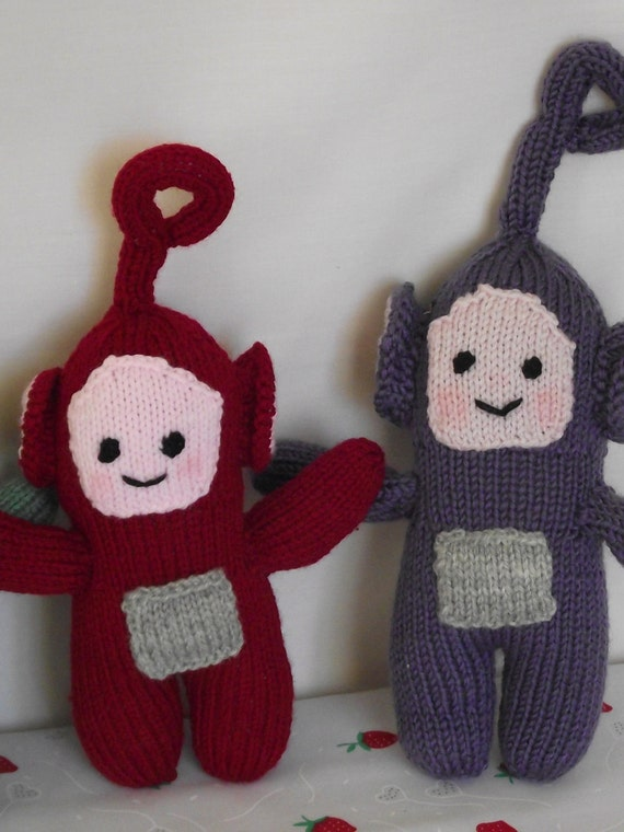 Teletubbies Knitting Pattern : 4xteletubbies Po Laa Laa Dipsy Tinky Winky hand knitted