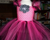 TuTu Dress and headband WILD THING  Perfect for Birthday, or Photo Props Size 6 month-2t