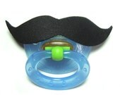 Black Mustache pacifier 0 to 6 months