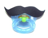 Mustache pacifier black 6 to 18months